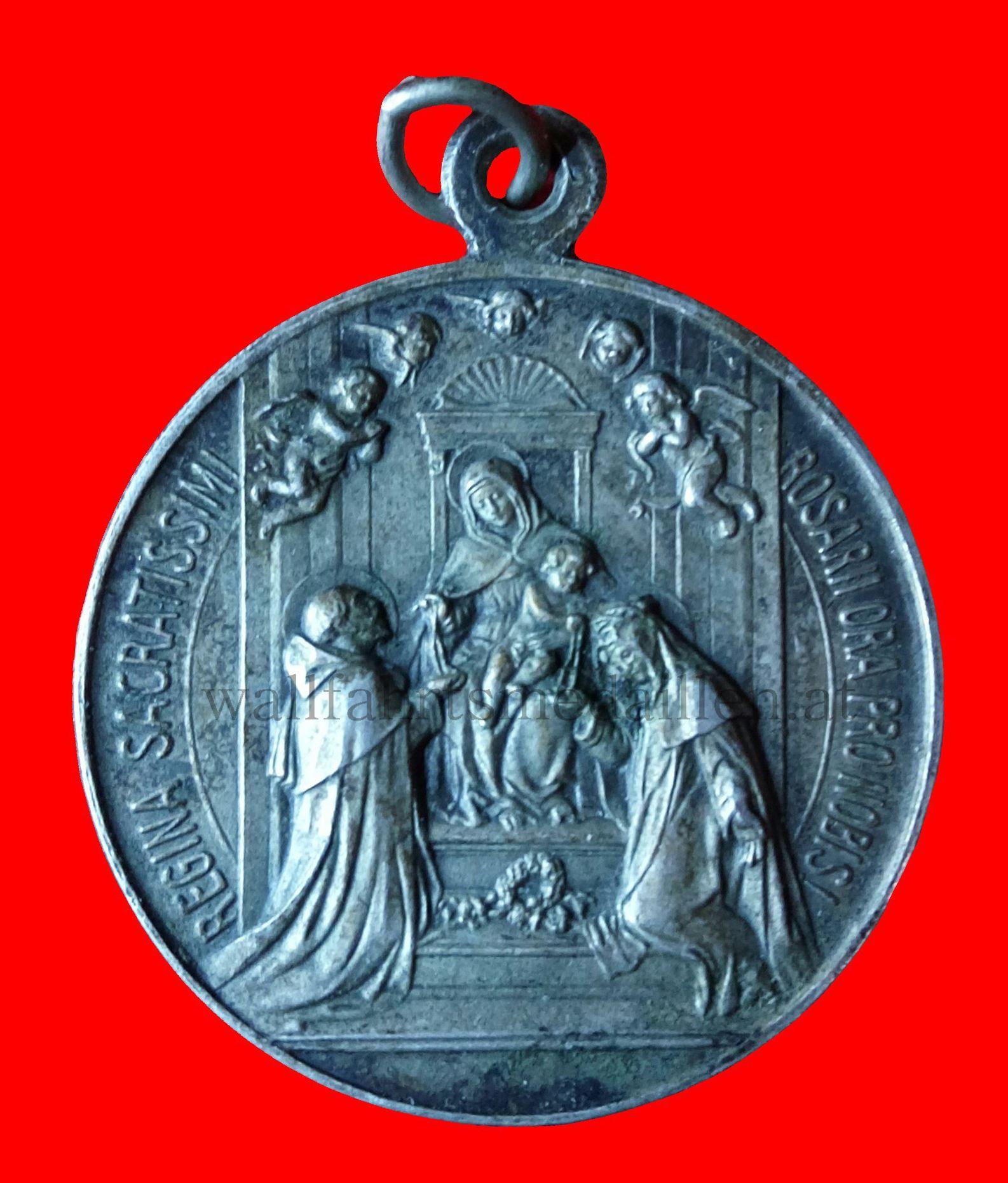 Die Rosenkranzspende an den heiligen Dominikus und die heilige Katharina von Siena