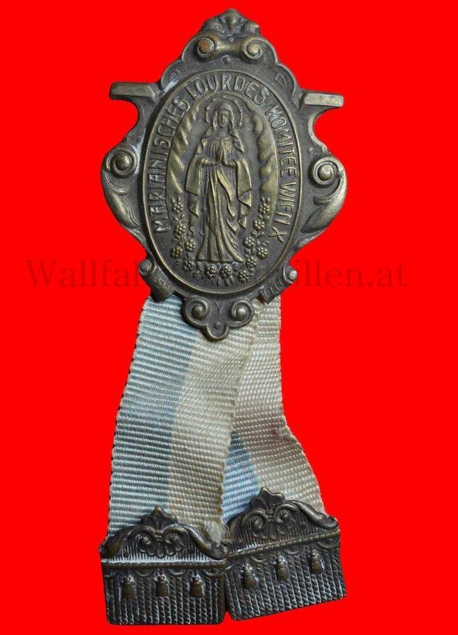 Pilgerplakette des Marianischen Lourdeskomitee