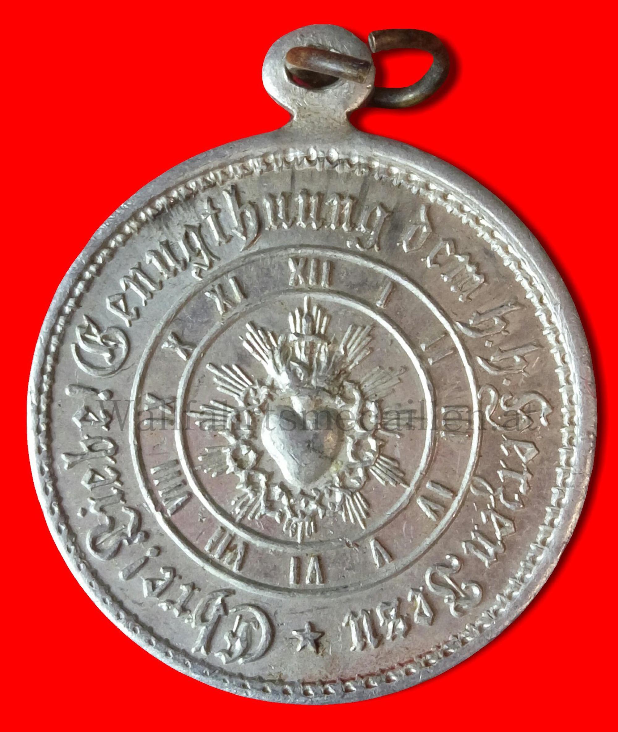 Medaille der Erzbruderschaft des heiligen Herzens