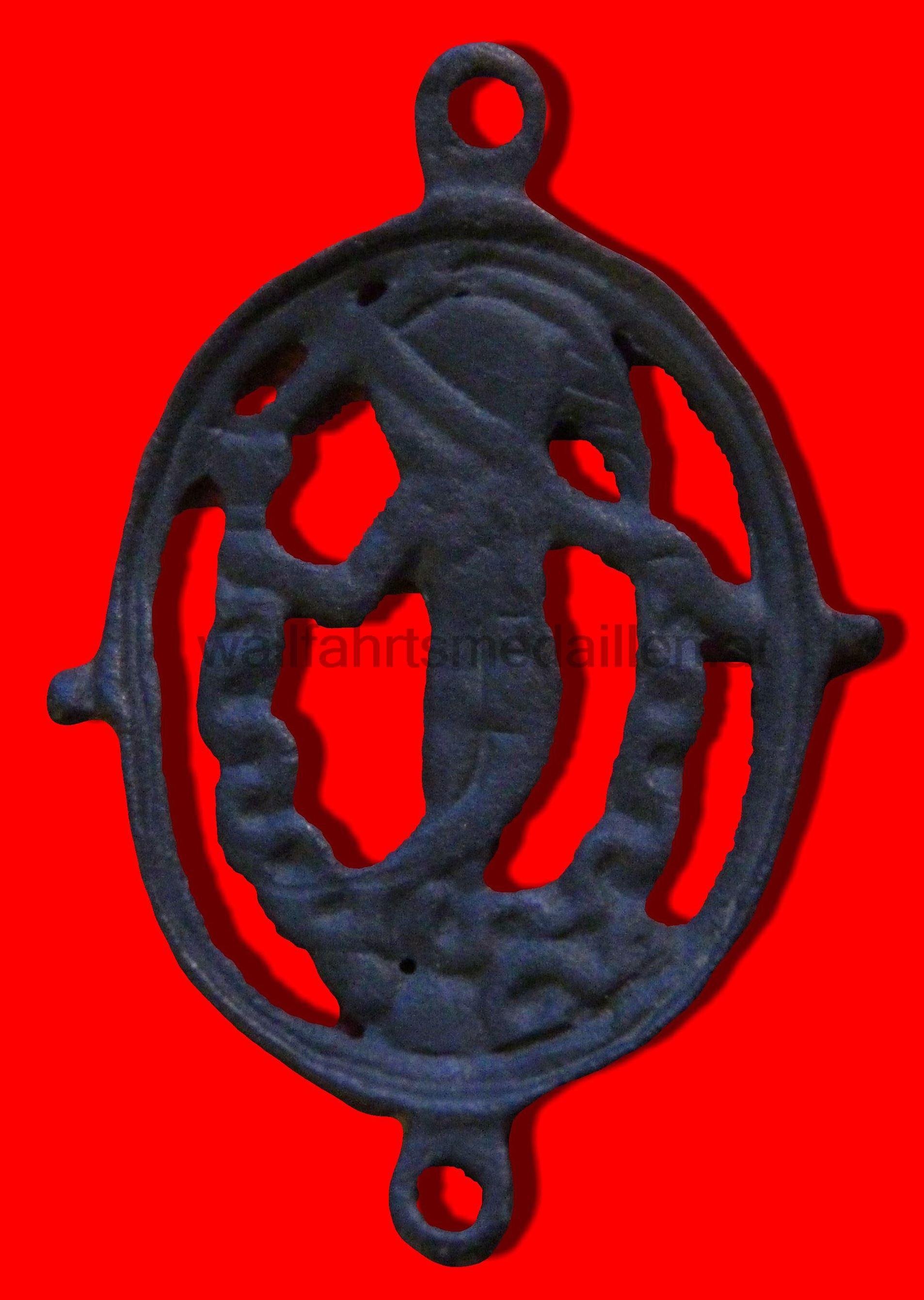 Figurale Medaille gefertigt als Rosenkranz - Verbindungsmedaille