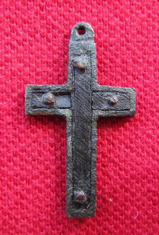 Rosenkranzkreuz mit Holzeinlage